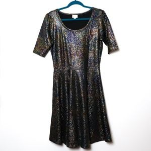 Lularoe | Nicole Holiday Sparkle Mermaid Dress XL